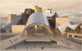 Frank Gehry's building design in Abu-Dhabi