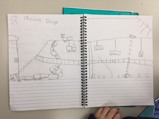 Grade 1 Squirrel Study and Engineering Designs 4